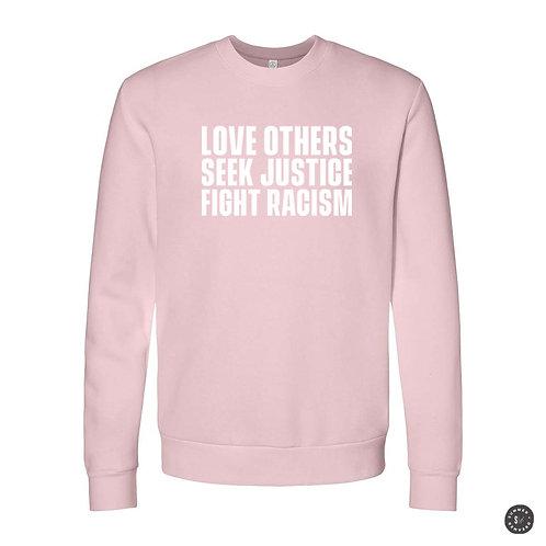 SEEK JUSTICE Crew Sweatshirt - Pink