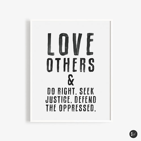 Love Others. Seek Justice.