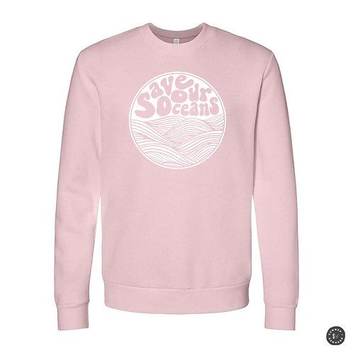 Save Our Oceans Crew Sweatshirt - Pink