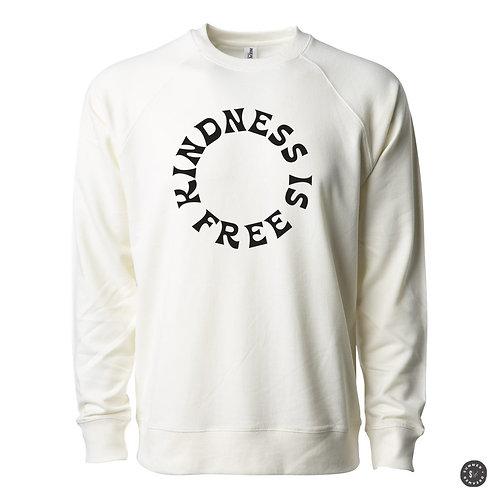 KINDNESS IS FREE Crew Sweatshirt -Bone
