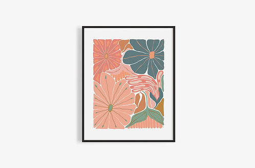 MUTED FLOWERS Print