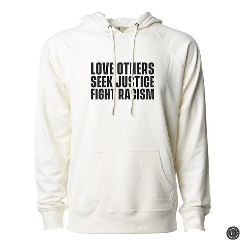 SEEK JUSTICE Hoodie - Bone