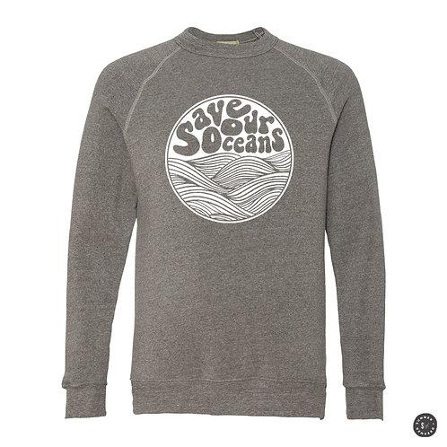 Save Our Oceans Crew Sweatshirt - Grey