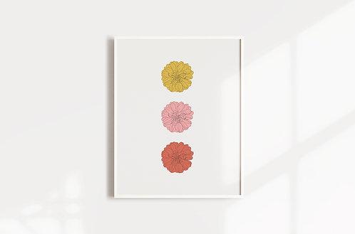 Three Flowers Print