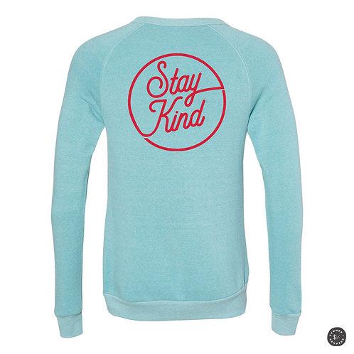 Stay Kind Crew Sweatshirt - Aqua