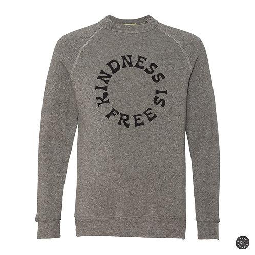 KINDNESS IS FREE Crew Sweatshirt - Grey