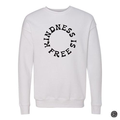 KINDNESS IS FREE Crew Sweatshirt - White
