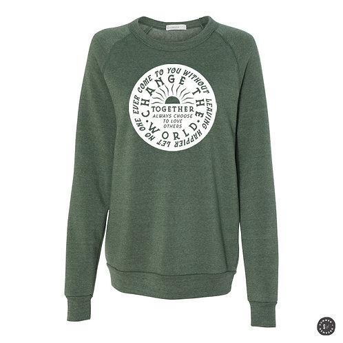 Change The World Crew Sweatshirt - Pine