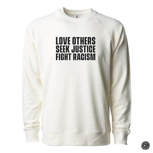 SEEK JUSTICE Crew Sweatshirt -Bone