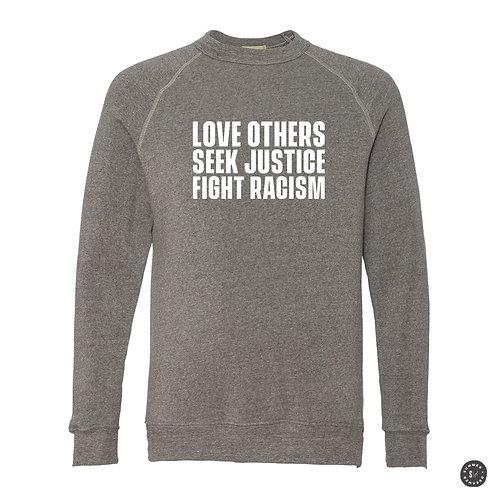 SEEK JUSTICE Crew Sweatshirt - Grey