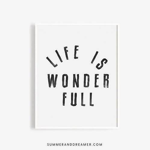 Life is Wonder Full