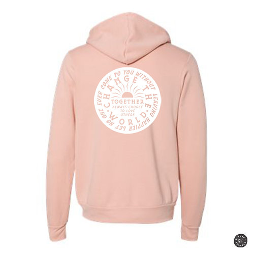 Change The World Zip Up Hoodie - Various Colors