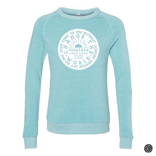 Change The World Crew Sweatshirt - Aqua