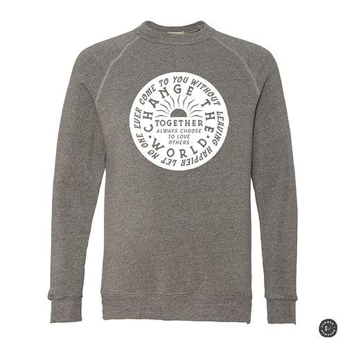 Change The World Crew Sweatshirt - Grey