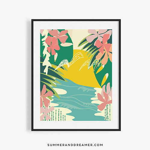 TURTLE BEACH @ SUNSET 11x14 Print (Limited Copies)