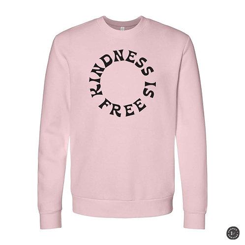 KINDNESS IS FREE Crew Sweatshirt - Pink
