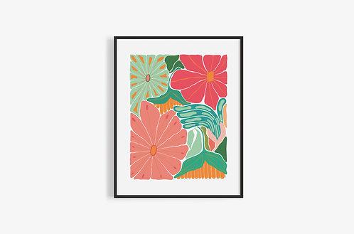 BRIGHT FLOWERS Print
