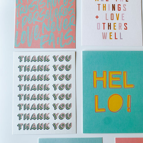 SET OF 10 CARDS - VARIETY PACK