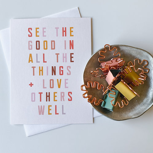 Love Others Well Card