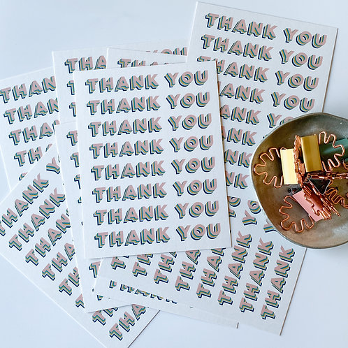 THANK YOU CARD - SET OF 10