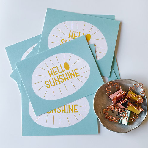 HELLO SUNSHINE - SET OF 10