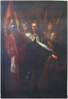 K. Škréta, Sv. Václav mezi dvěma anděly