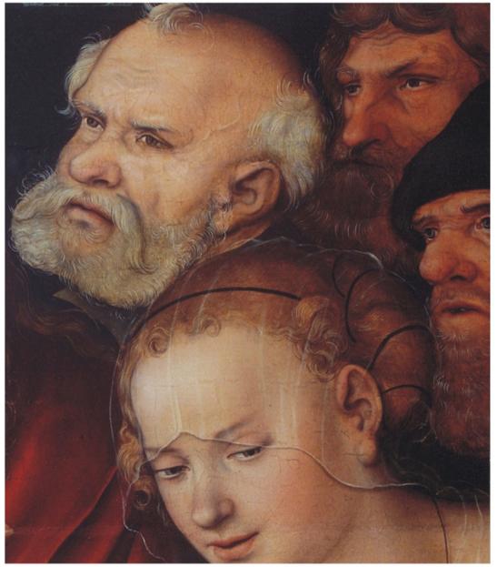 L. Cranach st., Kristus a cizoložnice