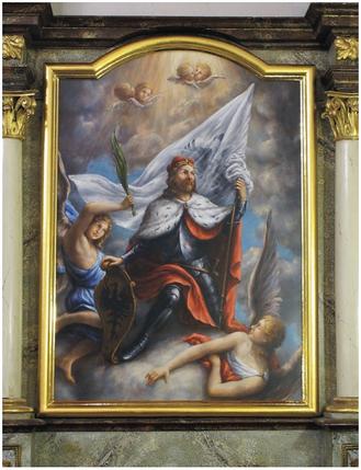 obraz adjustovaný do oltáře