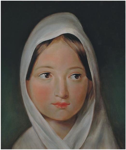 F. von Amerling, Dívka v šátku