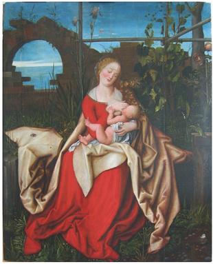 napodobitel A. Dürera, Kojící madona
