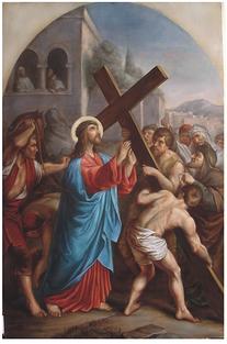 F. Čermák, II. zastavení Kříž. cesty
