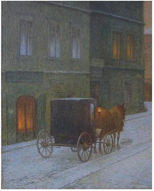 J. Schikaneder, Ulice s drožkou