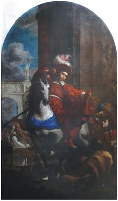 K. Škréta, Sv. Martin se dělí se žebrákem o plášť