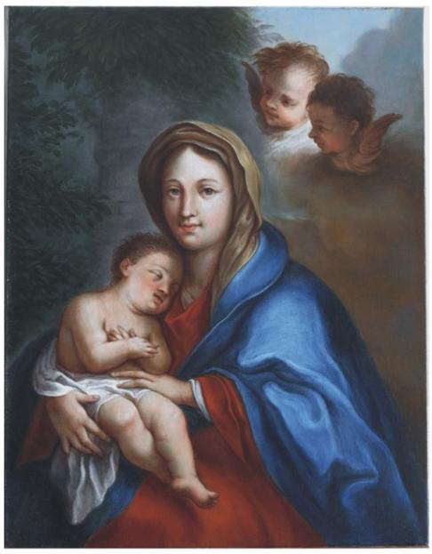 Anonym, Madona se spícím dítětem