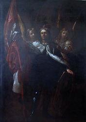 Karel Skreta ,Sv. Vaclav mezi dvema ande