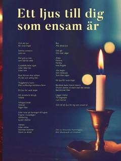 """Poem: """"Ett ljus till dig som ensam är"""""""