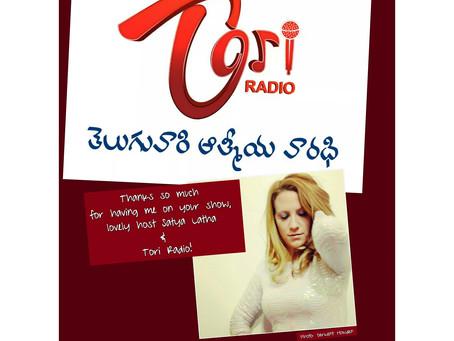 Great #fun being on your #show! Thank you, #Tori #Radio & host Satya Latha!