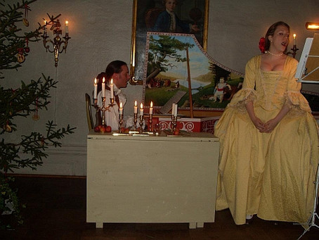 Photo: Performing at an 18th century ball