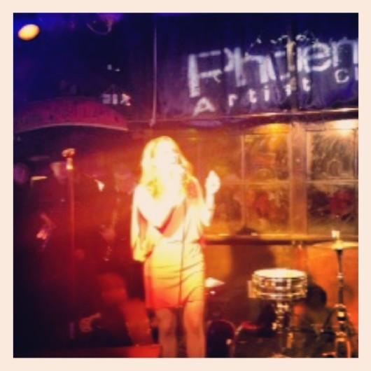 Performing at the Phoenix Artist Club, London