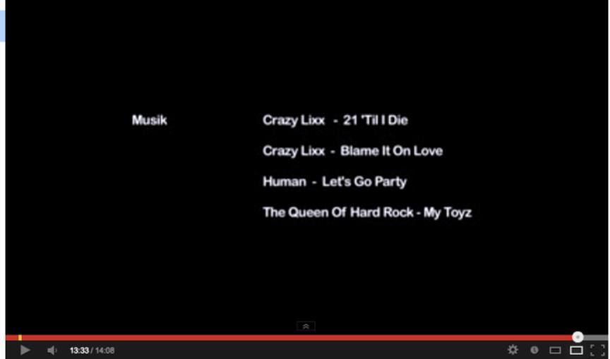 "Music credits from ""Älskade Groupies"""