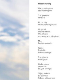 """Poem: """"Midsommarsång"""""""