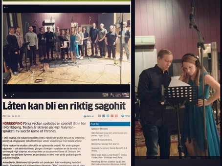 Photos: @AlexHummingson in the #paper! – Norrköpings Tidningar