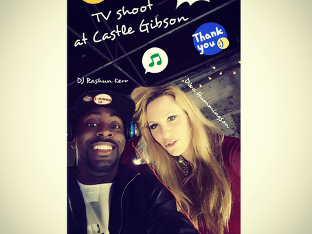 Photo: #TV #shoot at @castlegibson w/ @djrashunk & @alexhummingson! #dj #funtimes #workhardevery