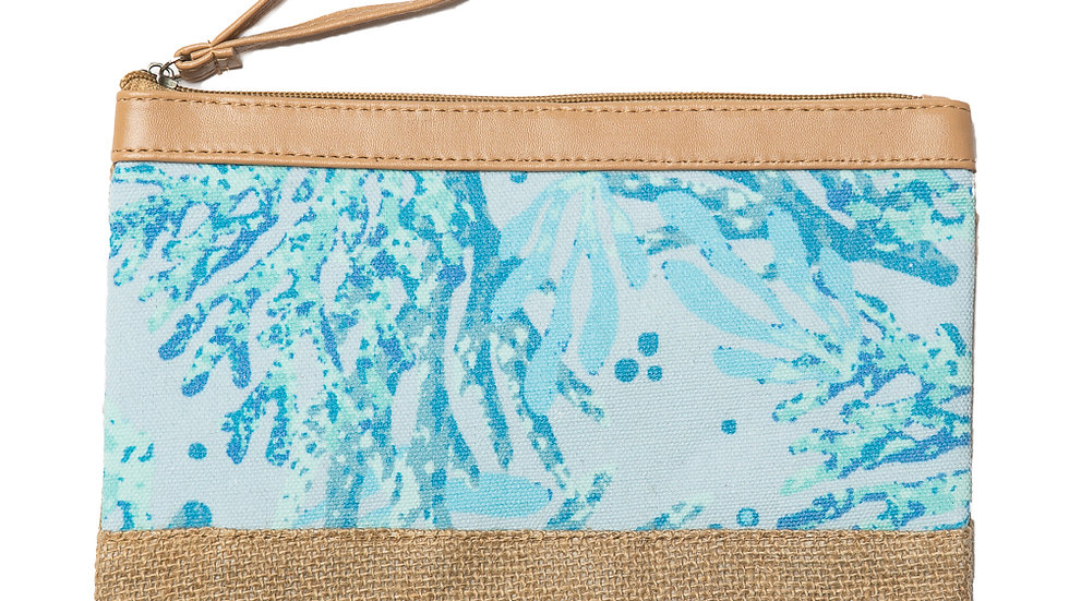 Sunny Wristlet - Blue Coral Reef