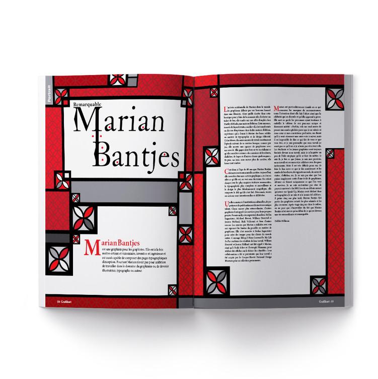 Mise en page : hommage à Marian Bantjes