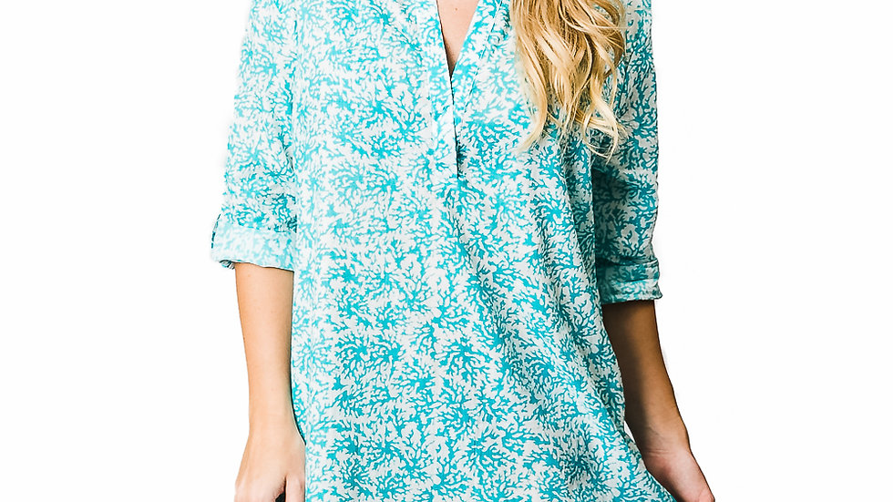 Turquoise Coral Reef Tunic
