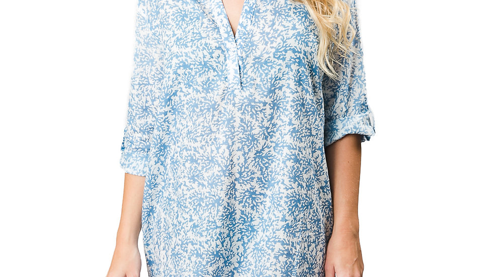 Blue Coral Reef Tunic