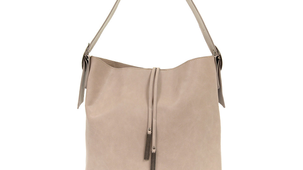 Tassel Shoulder Tote- Grey