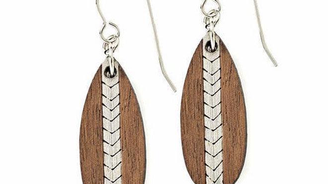Wood Chevron Earrings