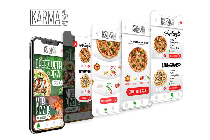 Application pour une pizzeria
